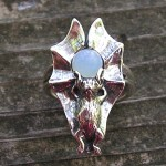 BAT RING WITH MOONSTONE