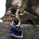 DRAGON PENDANT WITH BLUE ULEXITE