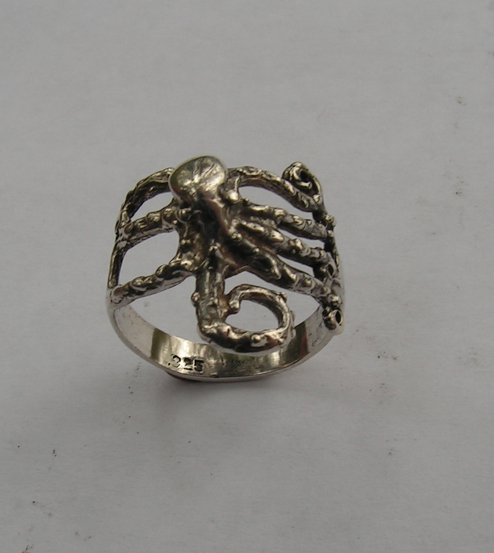 sterling silver octopus ring western mountain jewelry design