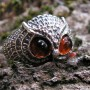 OWL RING WITH AMBER EYES