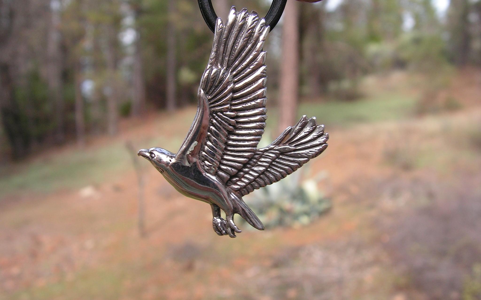 Sterling silver eagle pendant western mountain jewelry design konica minolta digital camera mozeypictures Gallery